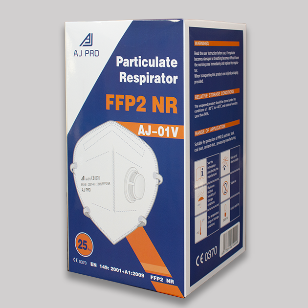 FFP2 with Valve Packaging