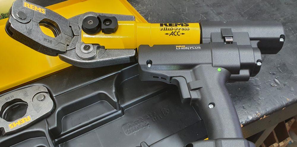 REMS Press Fit / Pipe Press Gun Angled Jaws